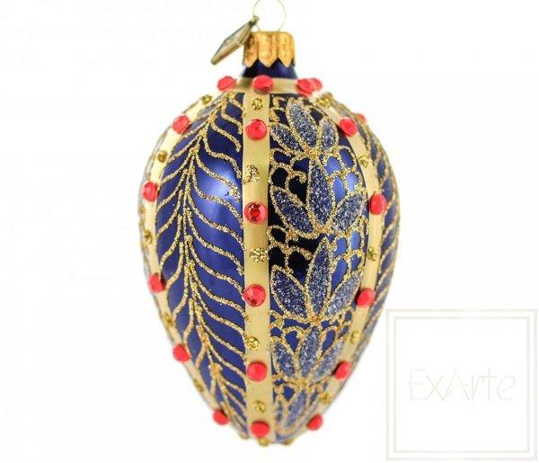 granat i złoto bombki świąteczne