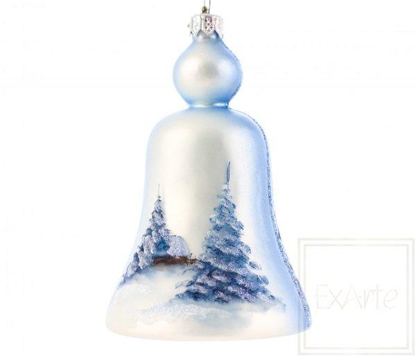 Dzwonek 14cm - Pejzaż z zajączkami