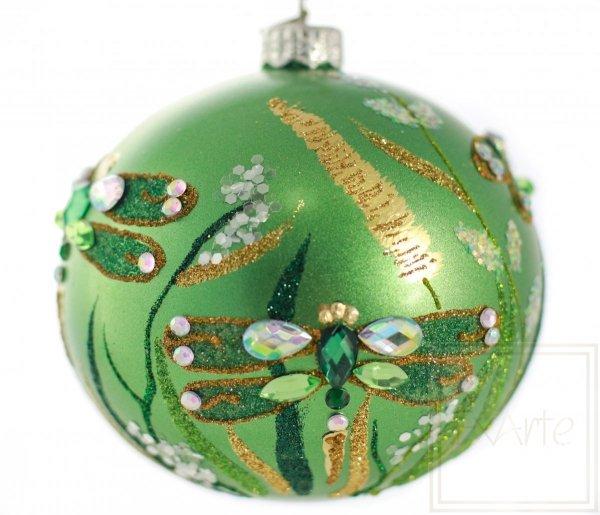 bombka bożonarodzeniowa zielona ważka