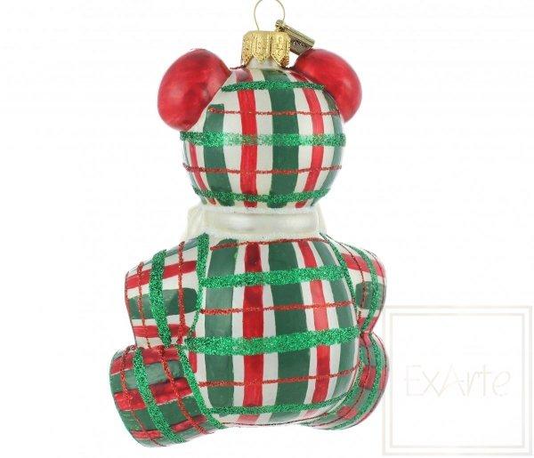 miś bombka bożonarodzeniowa / Teddybär 12cm - Schottischer Tartan