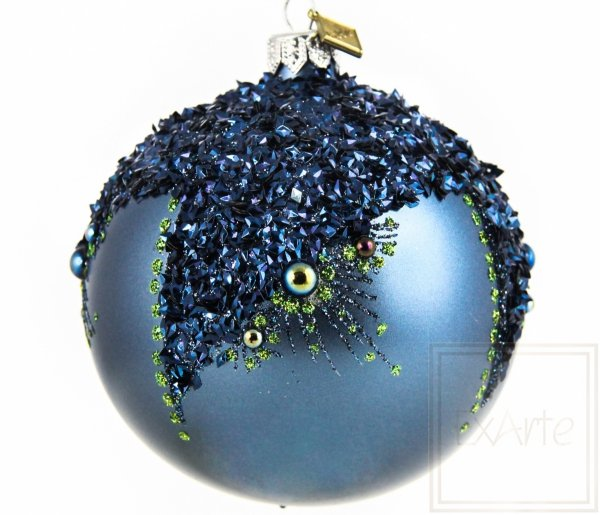 Szklana bombka kula granatowa, Ball von 10cm, Konstellationen