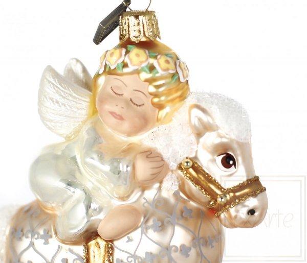 Aniołek na koniku - 13cm