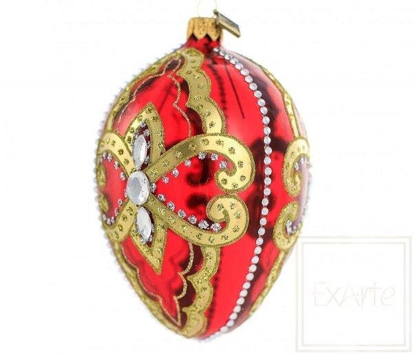 Jajko 13cm - Królewska czerwień
