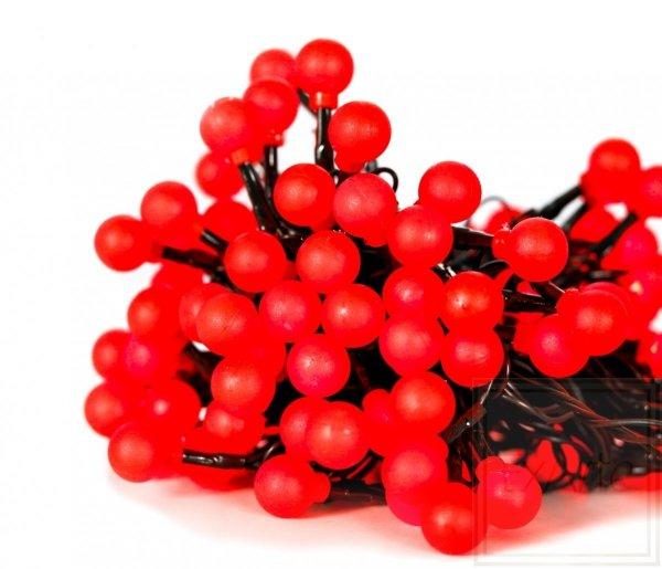 Lampki choinkowe Cherry Light - długość 12m, czerwone