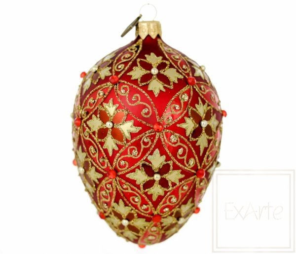 Jajko 13cm - Rubinowe powojniki