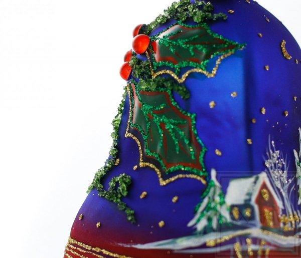 malowana ręcznie bombka szklana dzwonek