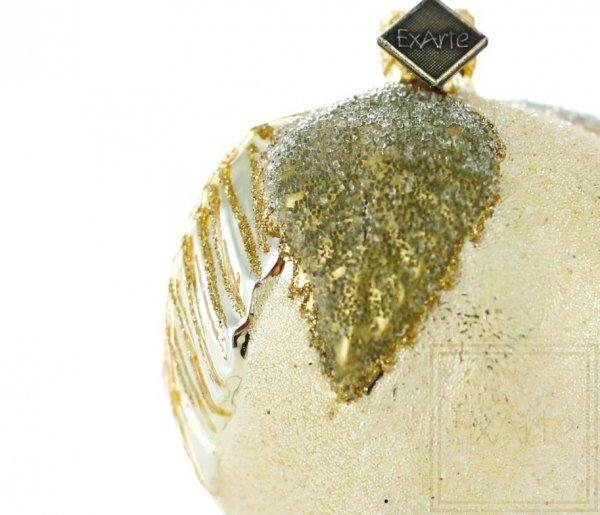 bombka świąteczna złote jabłko