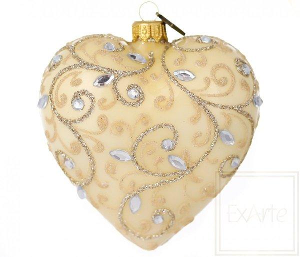 Serce 10cm - Kryształowe listki