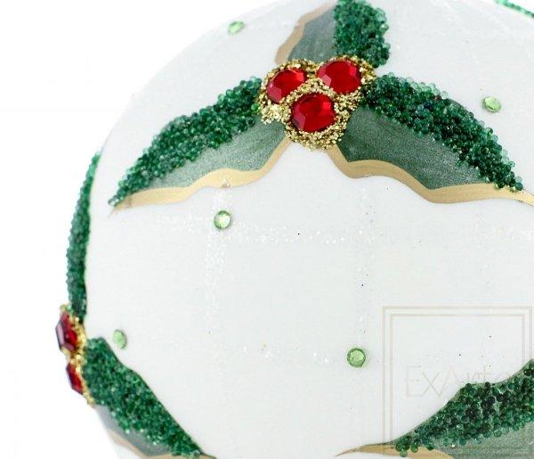 biało-zielona bombka kula
