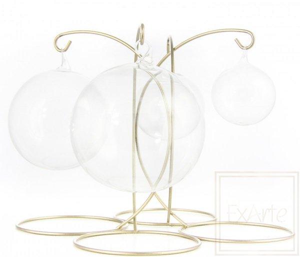 Bombka szklana kula transparentna, Ball von 10 cm - Weihnachtskugeln