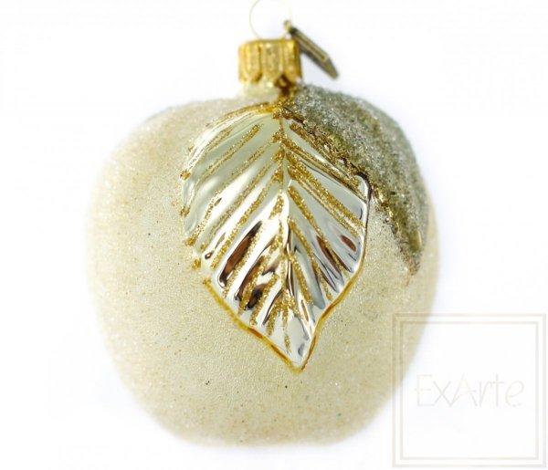 jabłko złote bombka ze szkła