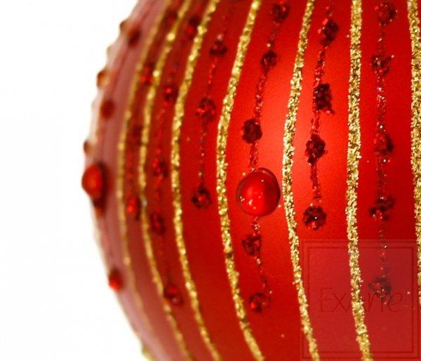 Kula 8cm - Rubinowy deszcz