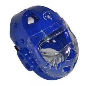 Kask z szybą do full-contact - niebieski