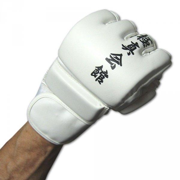 Rękawice kyokushin MMA-białe skay