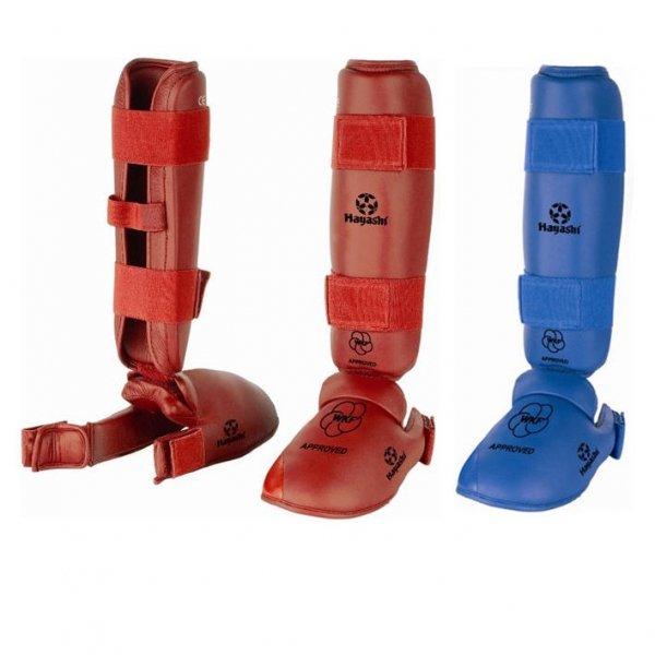 Ochraniacze goleń/stopa z aprobatą WKF Hayashi