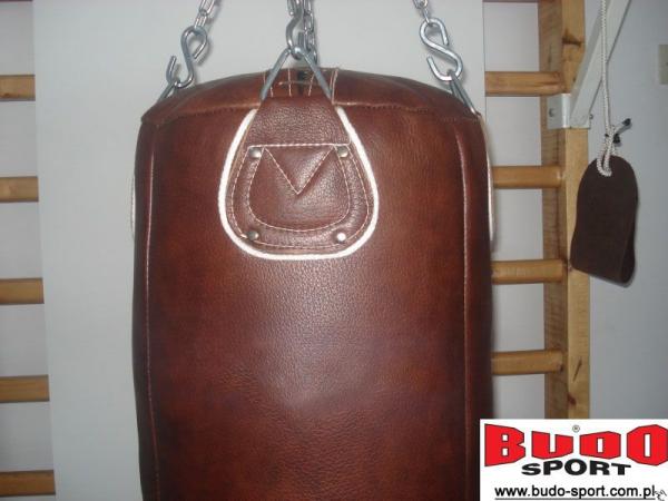 Worek bokserski skóra licowa, brązowy