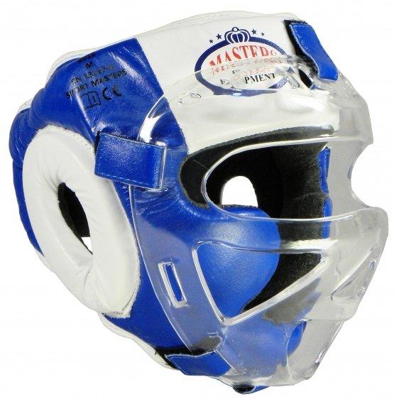 Kask bokserski z maską KSS-M-BOX wiązany od góry