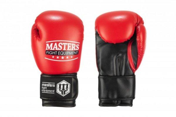 Rękawice bokserskie RPU-100 czerwono-czarne