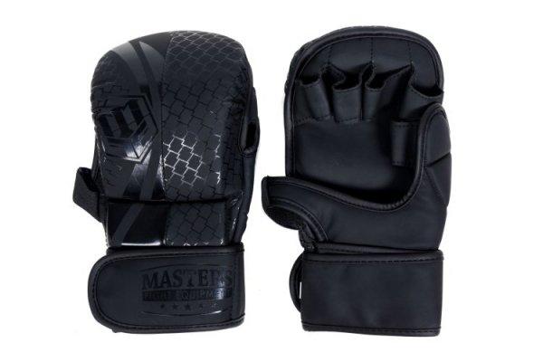 Rękawice do MMA sparingowe MASTERS GFS-MATT-BLACK