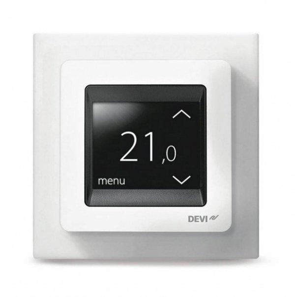 Termostat z ekranem dotykowym DEVIreg Touch śnieżnobiały