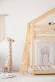 DMPB 90x190cm Łóżko piętrowe dziecięce domek Mila ADEKO
