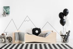 BOX 5 90x160cm Łóżko drewniane dziecięce