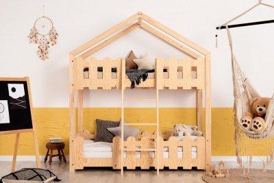 Kaiko P 90x160cm Łóżko piętrowe dziecięce domek Mila ADEKO