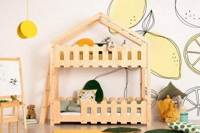 Kaiko B 70x160cm Łóżko piętrowe dziecięce domek Mila ADEKO