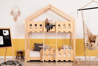 Kaiko P 80x140cm Łóżko piętrowe dziecięce domek Mila ADEKO