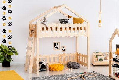 Zippo BA 70x180cm Łóżko piętrowe dziecięce domek Mila ADEKO