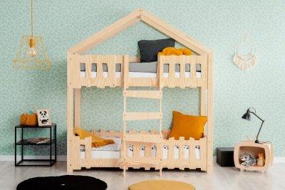 Zippo P 70x180cm Łóżko piętrowe dziecięce domek Mila ADEKO