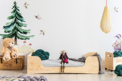 PEPE 6 80x160cm Łóżko drewniane dziecięce