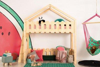 Kaiko BA 80x160cm Łóżko piętrowe dziecięce domek Mila ADEKO