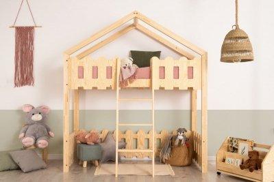 Kaiko PA 90x140cm Łóżko piętrowe dziecięce domek Mila ADEKO
