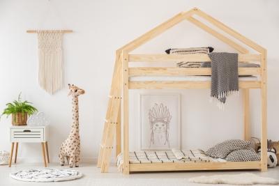 DMPB 90x160cm Łóżko piętrowe dziecięce domek Mila ADEKO