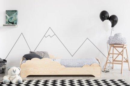 BOX 9 80x160cm Łóżko drewniane dziecięce