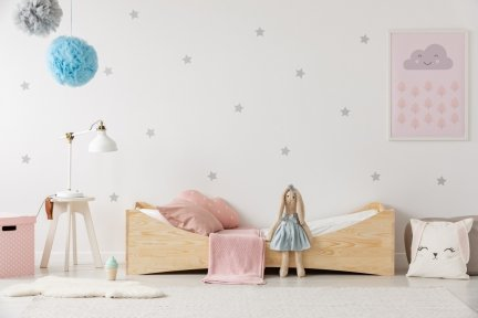 BOX 3 80x150cm Łóżko drewniane dziecięce