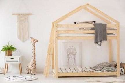 Łóżko piętrowe dziecięce domek Mila DMPB 80x190cm ADEKO