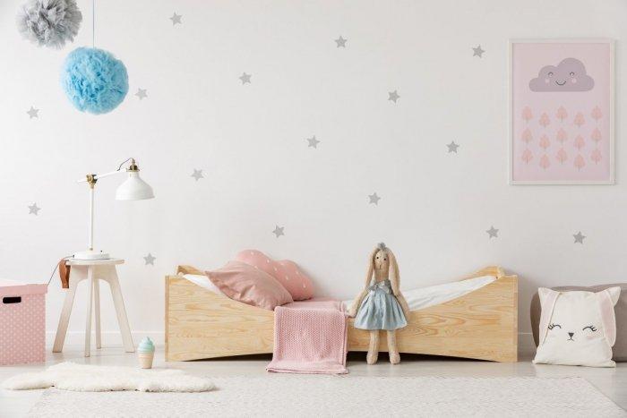 BOX 3 80x140cm Łóżko drewniane dziecięce