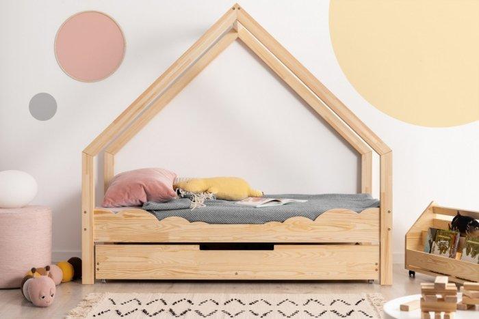 Loca D 90x160cm Łóżko dziecięce drewniane ADEKO