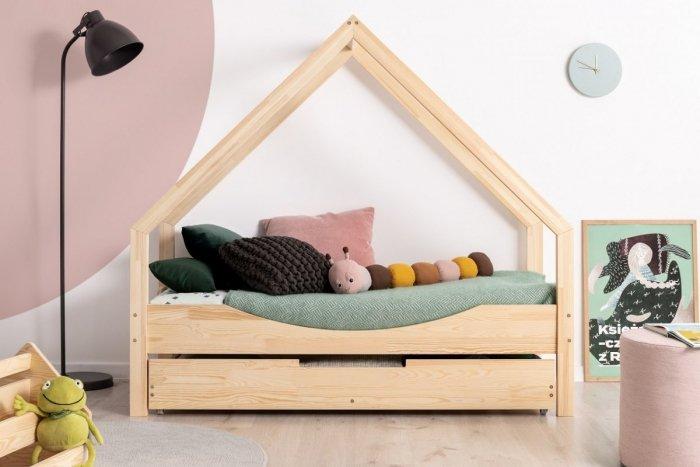 Loca E 100x200cm Łóżko dziecięce drewniane ADEKO