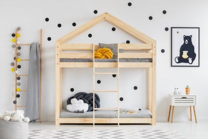 DMP 80x190cm Łóżko piętrowe dziecięce domek Mila ADEKO