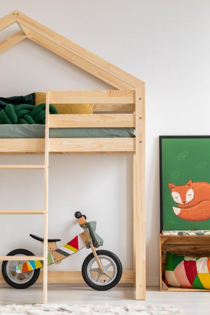 DMPA 90x180cm Łóżko piętrowe dziecięce domek Mila ADEKO