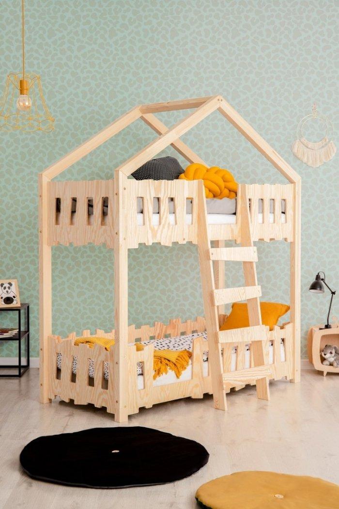 Zippo P 80x160cm Łóżko piętrowe dziecięce domek Mila ADEKO