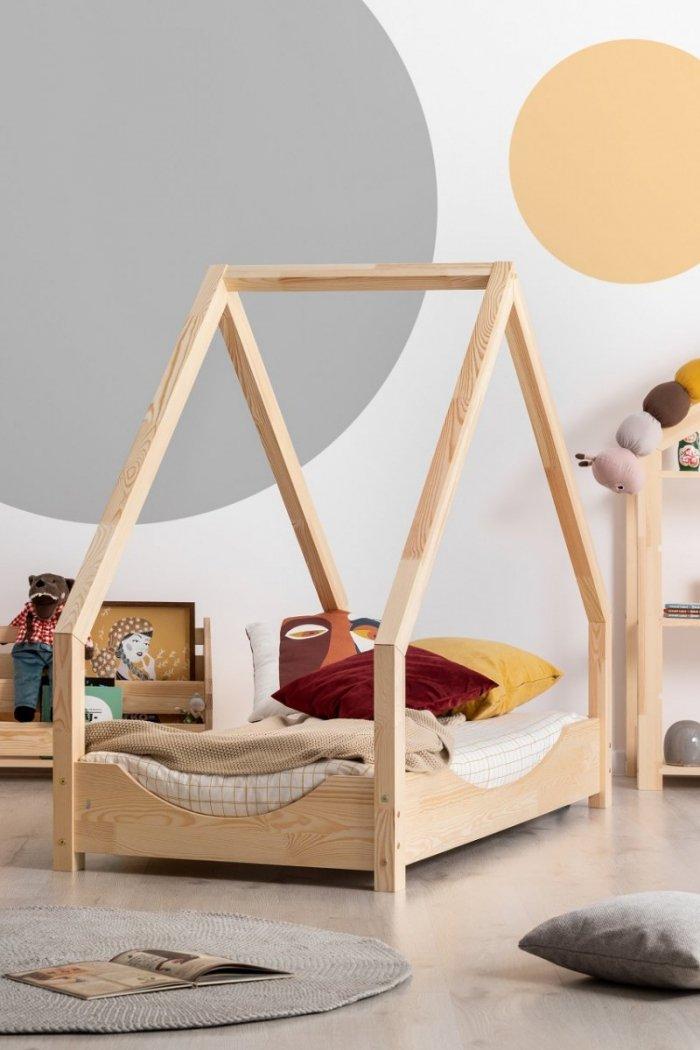 Loca E 90x160cm Łóżko dziecięce drewniane ADEKO