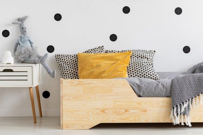 BOX 1 80x150cm Łóżko drewniane dziecięce