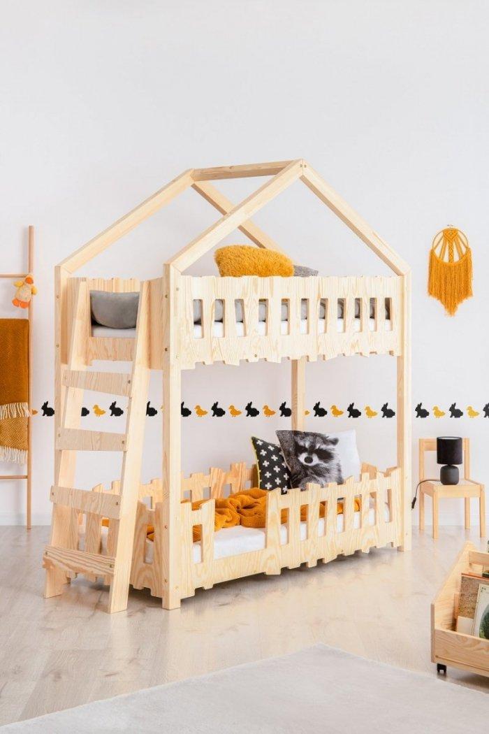 Zippo B 70x140cm Łóżko piętrowe dziecięce domek Mila ADEKO