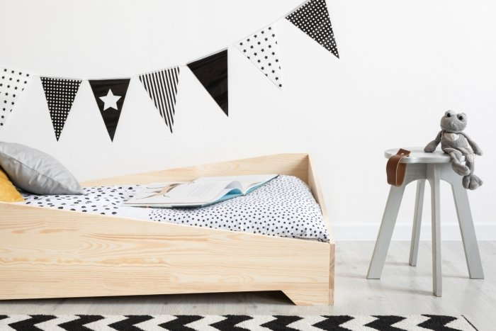 BOX 7 90x140cm Łóżko drewniane dziecięce