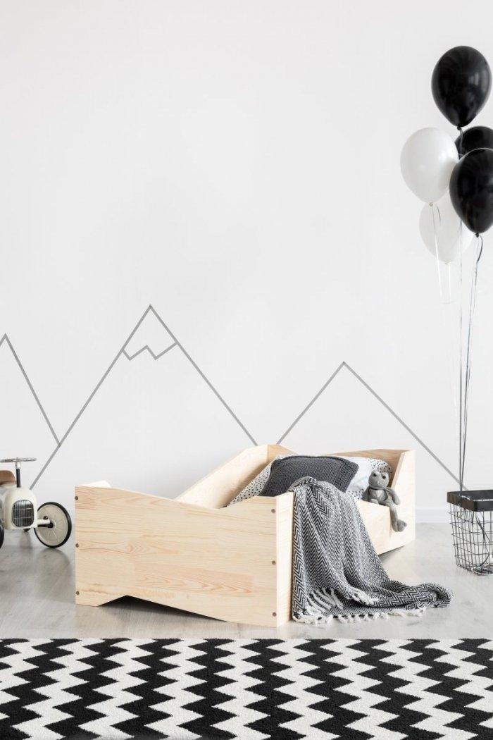 BOX 5 80x190cm Łóżko drewniane dziecięce