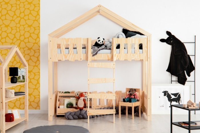 Zippo PA 80x180cm Łóżko piętrowe dziecięce domek Mila ADEKO